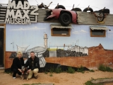 16.Linda, Dog and Adrian outside the Mad Max 2 Museum, Silverton New South Wales.jpg