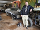 2.Adrian Bennett and Dog - a living replica of Max's Dog in the movie - with Interceptor and buggy.jpg