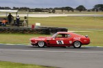 Allan Moffat's Mustang on track at Phillip Island