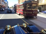 Cruising in Melbourne with a heritage tram