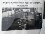 A 1960s photo of the Repco-Brabham factory